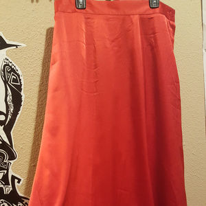 Size 12 Sleek and Sexy Bright Red Formal Skirt